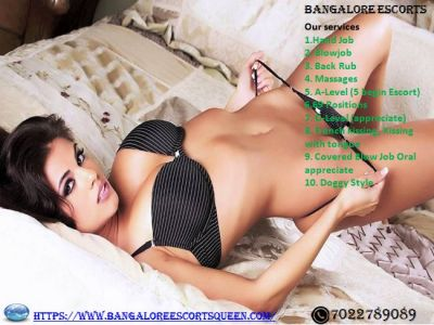 """Call 7022789089 Discover Independent Escorts in Bangalore 5 star Hotels with Photos, Choose High profile Call Girls in Bangalore. Varieties of Escorts in Bangalore.Most Beautiful Call girls In Bangalore, Wide Range of High Class Escorts in Bangalore. https://www.bangaloreescortsqueen.com"